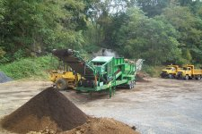 Screening of compost to make a clean product.