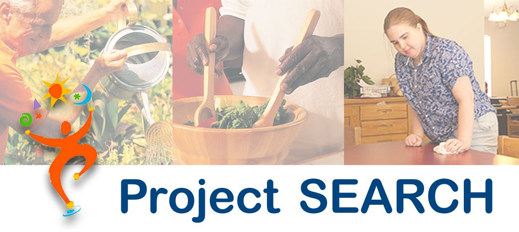 Project Search webpage header 3