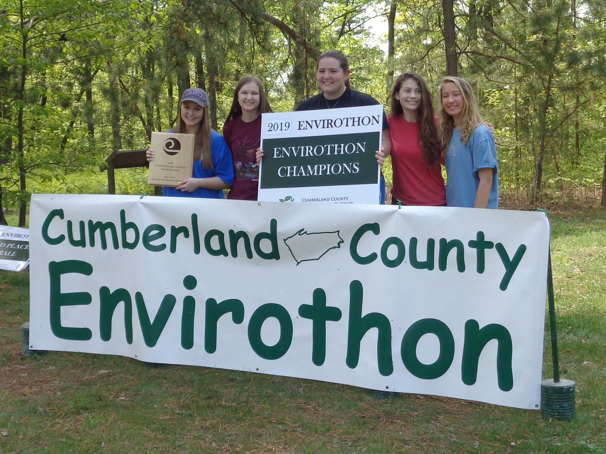 2019 Cumberland County Envirothon Champions-Hellbenders from CVHS