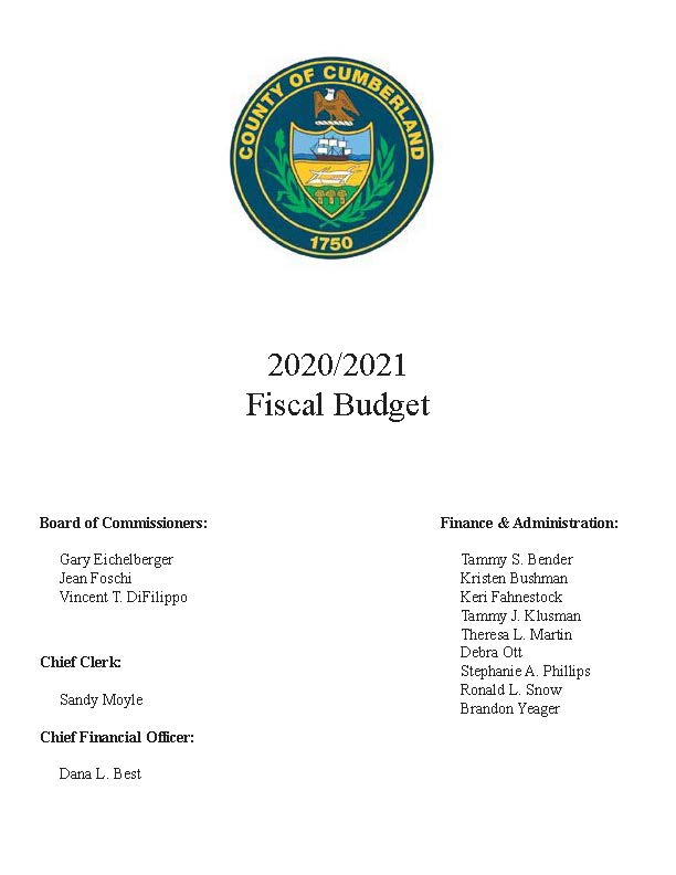 Fiscal 2020-2021 Budget