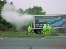 Simulated Hazmat release from Truck - CherCap Exercise